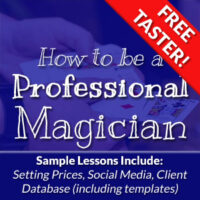 How To Be A Pro Magician Free Sample Course